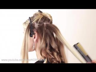 Объемные локоны на утюжок. Voluminous Curls