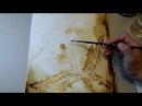 Видеурок по созданию кофейного рисунка Одуванчики (демо-версия)