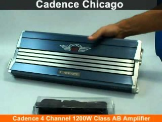 Chicago Cadence 4 Channel 1200W Class AB Amplifier