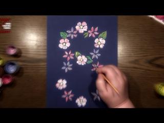 Быстрое Рисование | Мини-Постер на 8 Марта | Гуашь