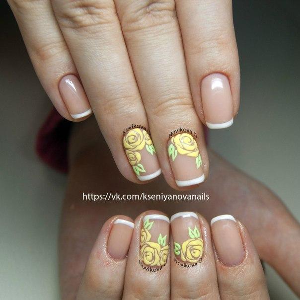Дизайн ногтей пудрой фото