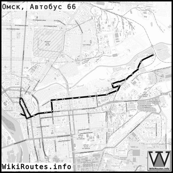 Схема маршрутов на карте