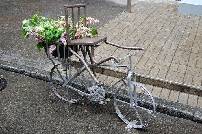 Памятник-велосипед (ул. Крещатик)