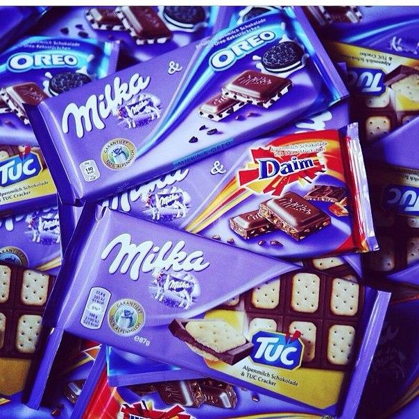 Шоколад milka на любой вкус