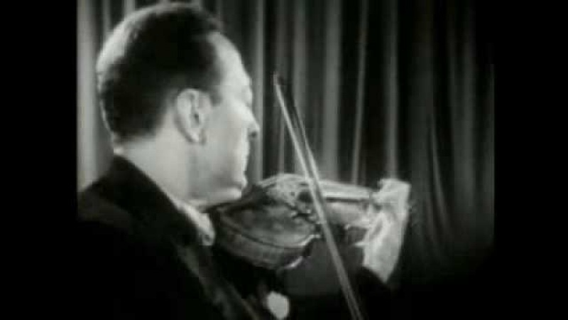 Jascha Heifetz plays Paganini Caprice No. 24