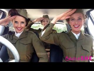 девушки поют в машине, история музыка в машине |Mime Through Time by SketchSHE HD /public64302028