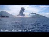 Вулкан мощной ударной волной разогнал над собой облака