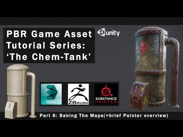 PBR Game Asset Creation Part 6 - Baking the maps( Painter overview)