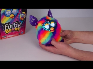 Ферби Бум Кристалл радужный (Furby Boom crystal rainbow edition) видео обзор