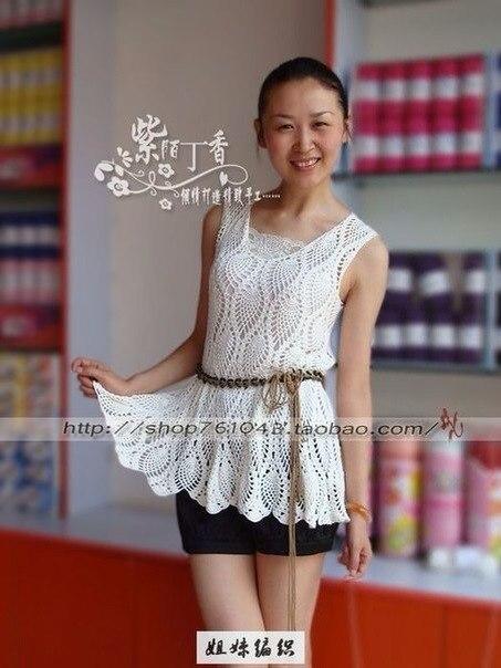 Туника или платье крючком, схема (5 фото) - картинка
