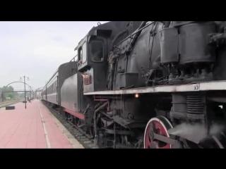 Китай.Пассажирские поезда с паровозной тягой.