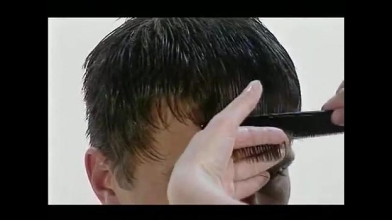 Это действие можно проделать ножницами или машинкой для стрижки, переключив лезвие в режим под номером два.