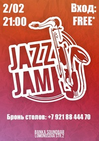 2/02 BEST JAZZ HITS & Jam @ Soundbar Banka