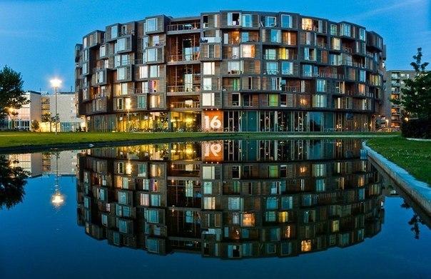 Студенческое общежитие в Копенгагене.