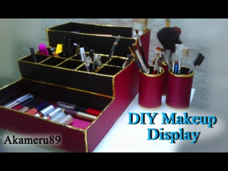 DIY Makeup Display/Storage - Close to free with recycled materials