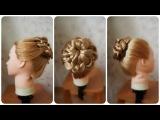 Прически: цветок из косы