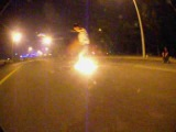 seba spark wheel on fire