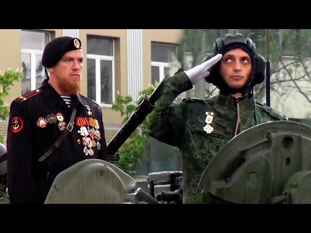 Моторола и Гиви на Параде Победы 9 Мая в Донецке