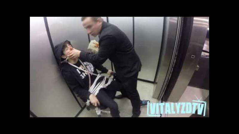 Russian Hitman Elevator Hostage Prank!
