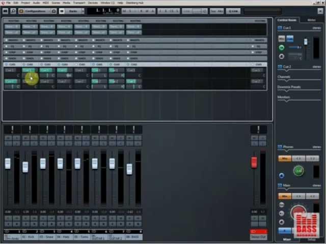 Control Room и Cue Mixes в Cubase - создаем различные варианты суб-миксов для записи