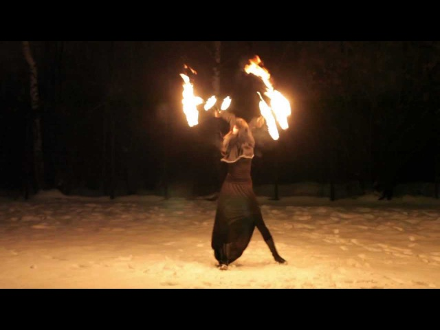 Fire Fans Mariya Prokazina