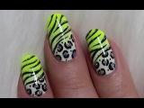Sommerliches Leo - Tiger Muster Nageldesign Wild Summer Animal Nail Art Design Tutorial