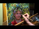 Дачница Олег Буйко Живопись маслом Process of creating oil painting