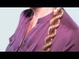 Уроки Плетения Косичек из Жгутов Видео Обучение. French Twist into Rope Braid (hairstyle for school)