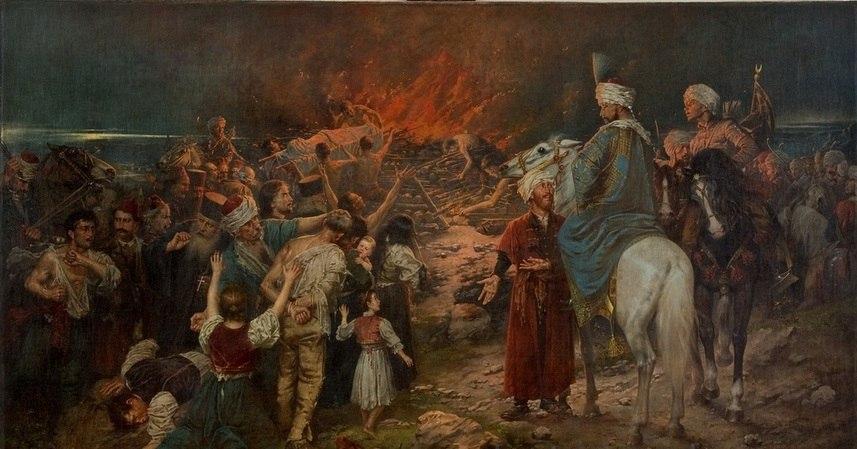 Сожжение мощей Святителя Саввы Сербского. / Стеван Алексич (1912г).