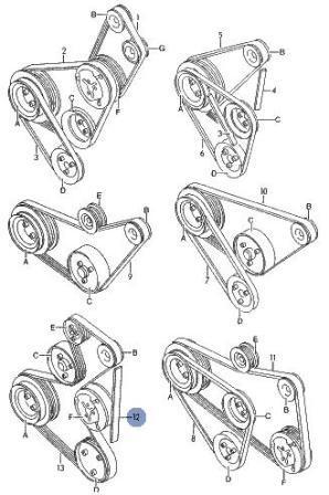 Ниже схемы ременного привода
