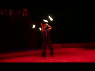 Огненное шоу в цирке - шапито