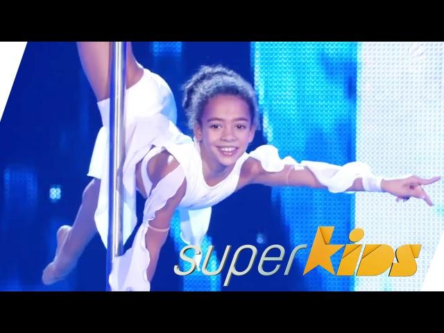 9yrs old Ukrainian Pole Dancer Emily Moskalenko | Superkids