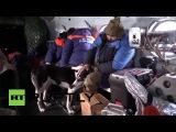 Россия: Спасательная команда экономит мель охотников в Республике Хакасия.