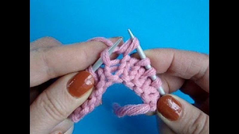 Континентальный метод Лицевая петля Урок 25 - Knitting for beginners Вязание спицами