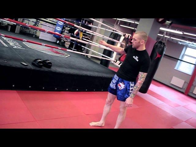 Хай кик удар ногой в голову. Как научиться бить показывает Андрей Басынин.