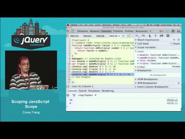 Corey Frang Scoping JavaScript Scope