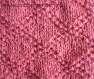 Вязание спицами для детей Косая сетка (2 фото) - картинка