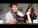 Nathan Fillion and Stana Katic reads a page of a Rick Castle Book RUS subtitles