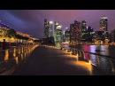 Virtual Walks Singapore Skyline Night Walk - Jog and Run In the City Colorful Nights