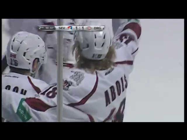 Первый гол Родриго Аболса в КХЛ / Rodrigo Ābola pirmais vārtu guvums KHL