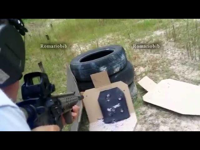 Отстрел Польской бронеплиты 6 класса защиты