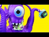 Imaginext Tentaclor Alien eats Toy Story Buzz Lightyear and Dinosaur Rex