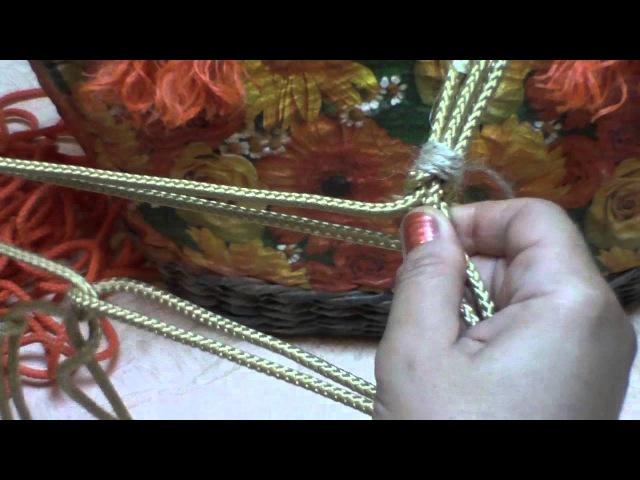▬► Варианты ручек для плетёных сумок. Часть 11.