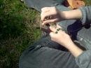 Плетение шнурков на вилке