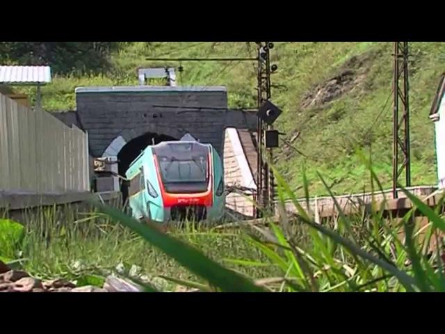 Испытания пригородного дизель-поезда КВСЗ на Львовской железной дороге
