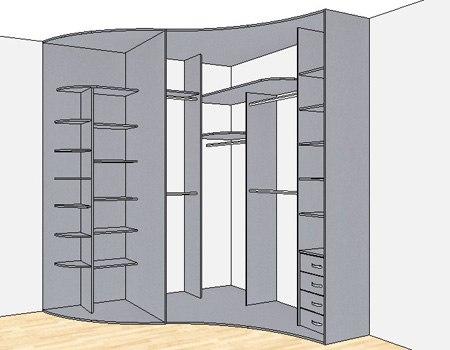 Радиусный угловой шкаф купе своими руками 50