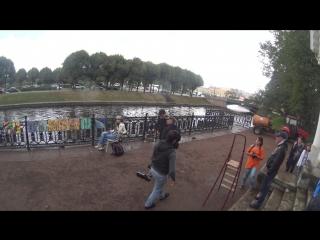 Съёмки клипа Тучи в Питере. Михайловский сад / Мойка ActionCamera 5