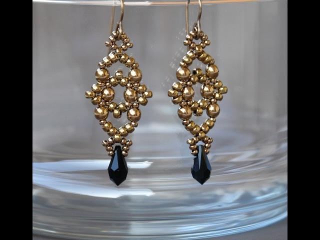 Sidonias handmade jewelry - Losange earrings - beading tutorial
