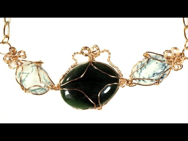 Triadic Wire Wrapped Multi Stone Necklace Tutorial