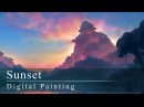 Digital Painting Sunset with annotations!